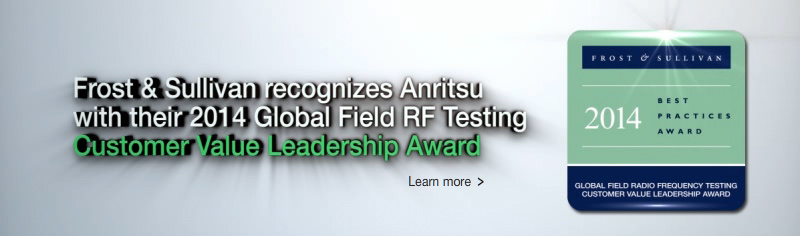 Anritsu Company Presented with Global Field RF Testing Leadership Award from Frost & Sullivan